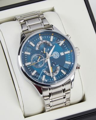 Leicester City Mens Silver Watch