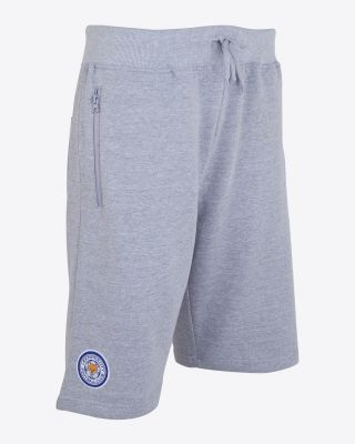Leicester City Mens Sweat Shorts - Grey