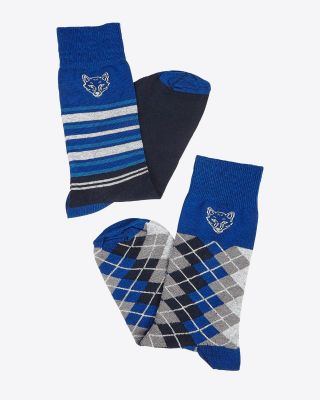 Leicester City Mens Twin Pack Fox Head Socks