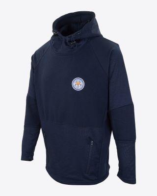 Leicester City Mens Zarivar Hoody - Navy