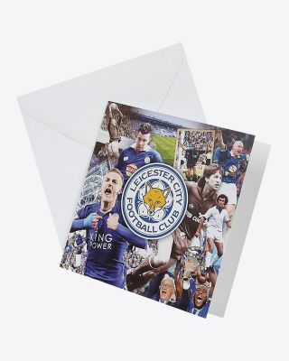 Leicester City Greetings Card - Assorted Designs - GREETINGS CARD MONTAGE