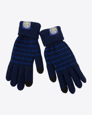 Leicester City Adult Striped Touch Screen Gloves