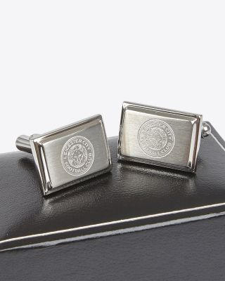 Leicester City Stainless Steel Oblong Crest Cufflinks