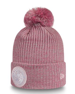 New Era Womens Pink Cuff Bobble Knit