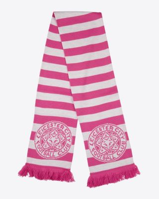 Leicester City Pink Stripe Scarf