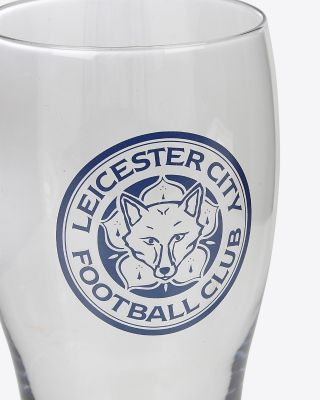 Leicester City Colour Injection Pint Glass