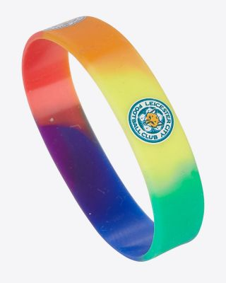 Leicester City Pride Rainbow Wristband