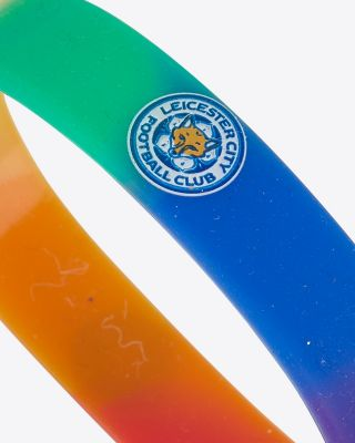 Leicester City Pride Rainbow Wristband