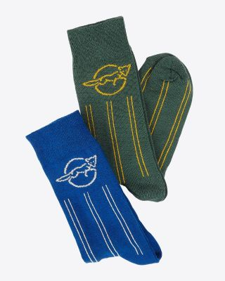 Leicester City Mens Twin Pack Retro 84 Socks