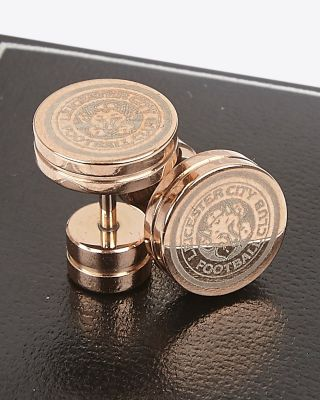 Leicester City Rose Gold Plated Stud Earrings