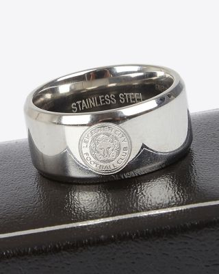 Leicester City Stainless Steel Crest Band Ring