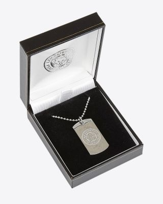 Leicester City Stainless Steel Crest Dog Tag & Chain
