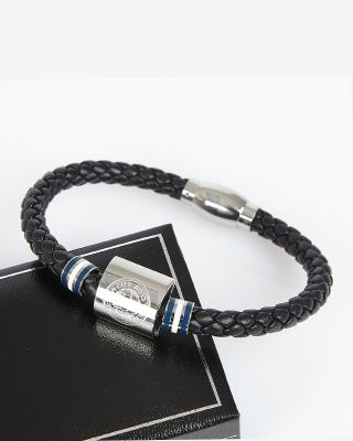 Leicester City Stripe Leather Bracelet