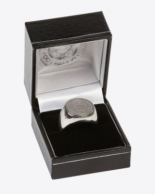 Leicester City Stainless Steel Round Crest Signet Ring