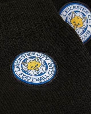Leicester City Mens Black Thermal Socks