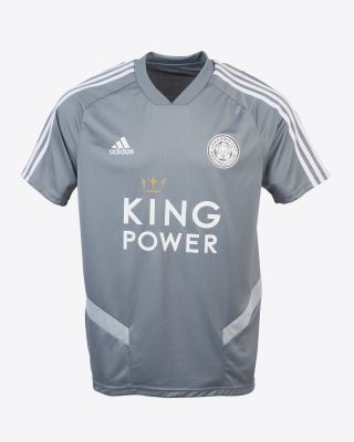2019/20 adidas Leicester City Junior Grey V-Neck Training Tee