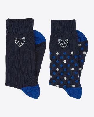 Leicester City Mens Twin Pack Fox Head Socks