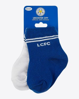 Leicester City Infant Twin Pack Socks