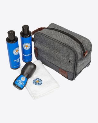 Leicester City Grey Wash Bag Gift Set
