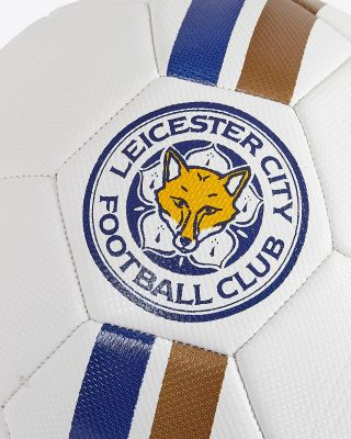 Leicester City White Football - Size 5