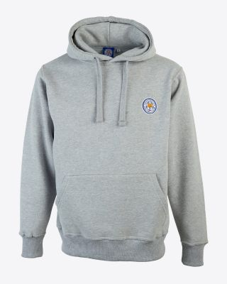 Leicester City Mens Grey Crest Hoody