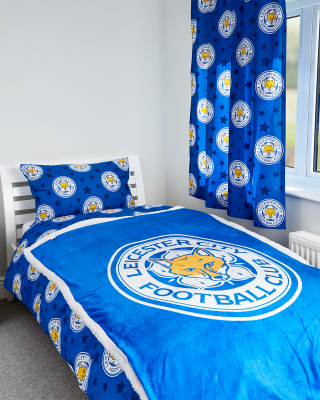Leicester City Crest Fleece Blanket