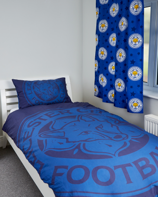Leicester City Single Duvet Large Crest