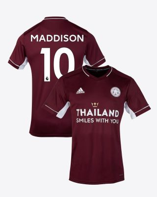 James Maddison - Leicester City Maroon Away Shirt 2020/21 - Kids