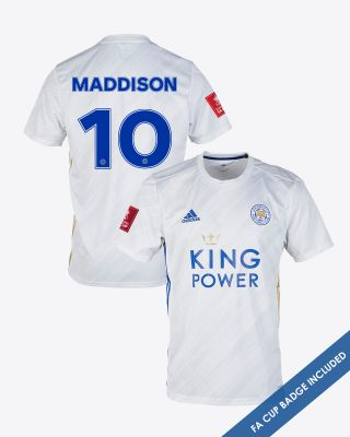 James Maddison - Leicester City White Away Shirt 2020/21 - FA CUP