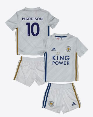 James Maddison - Leicester City White Away Shirt 2020/21 - Mini Kit