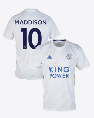 James Maddison - Leicester City White Away Shirt 2020/21