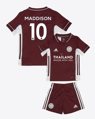 James Maddison - Leicester City Maroon Away Shirt 2020/21 - Mini Kit