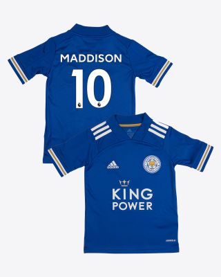 James Maddison - Leicester City King Power Home Shirt 2020/21 - Kids