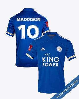 James Maddison - Leicester City King Power Home Shirt 2020/21 - FA CUP