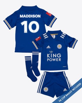 James Maddison - Leicester City King Power Home Shirt 2020/21- Mini Kit FA CUP