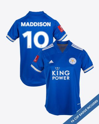 James Maddison - Leicester City King Power Home Shirt 2020/21 - Womens FA CUP