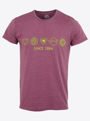 Leicester City Mens Retro Crests T-Shirt
