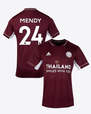 Nampalys Mendy - Leicester City Maroon Away Shirt 2020/21 - Kids