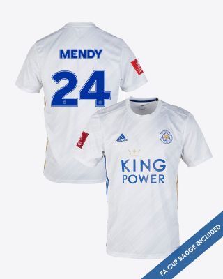 Nampalys Mendy - Leicester City White Away Shirt 2020/21 - FA CUP