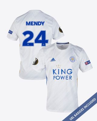 Nampalys Mendy - Leicester City White Away Shirt 2020/21 - UEL