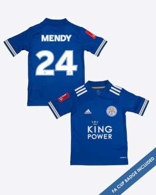 Nampalys Mendy - Leicester City King Power Home Shirt 2020/21 - Kids FA CUP