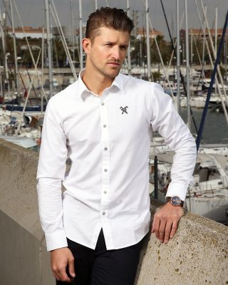 Fox & Crop Mens White Shirt