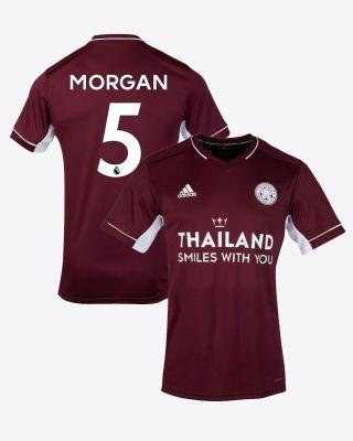 Wes Morgan - Leicester City Maroon Away Shirt 2020/21 - Kids