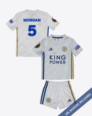 Wes Morgan - Leicester City Away Shirt 2020/21 - Mini Kit UEL