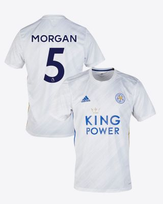 Wes Morgan - Leicester City White Away Shirt 2020/21