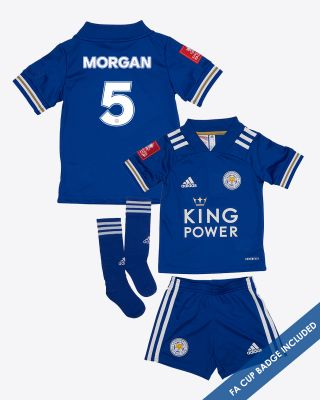 Wes Morgan - Leicester City King Power Home Shirt 2020/21- Mini Kit FA CUP