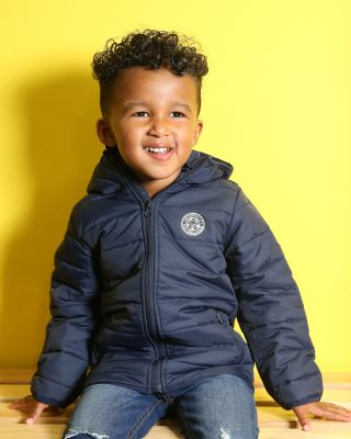 Leicester City Kids Polyfil Jacket Navy