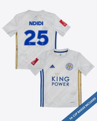 Wilfred Ndidi - Leicester City Away Shirt 2020/21 - Kids FA CUP