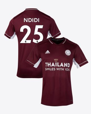 Wilfred Ndidi - Leicester City Maroon Away Shirt 2020/21 - Kids