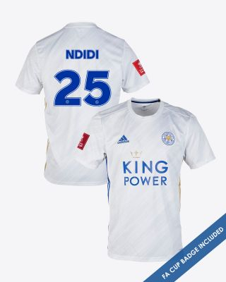 Wilfred Ndidi - Leicester City White Away Shirt 2020/21 - FA CUP